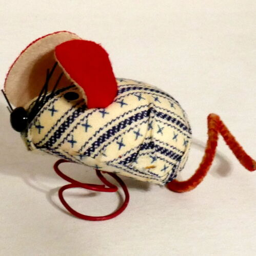 Christmas Ornament Fabric INARCO JAPAN Ticking Wire Coil Attachment Small