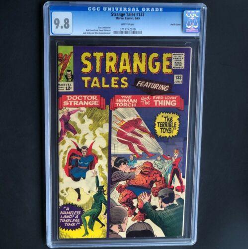 STRANGE TALES #133 (1965) 💥 CGC 9.8 - 1 OF ONLY 3 💥 Ditko Art, Dr. Strange Cvr