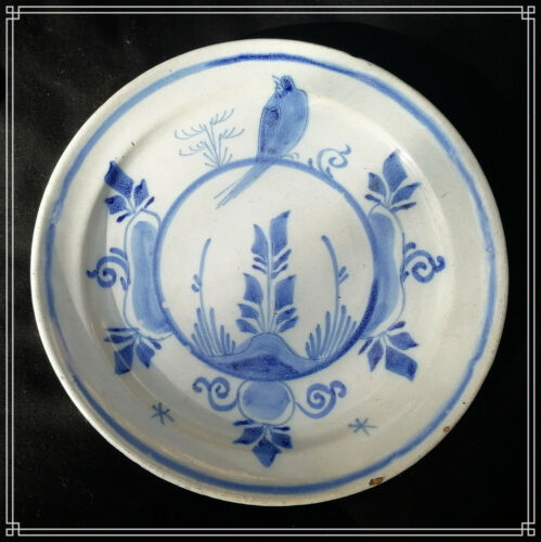 Beautiful Delft Pottery Faience Plate18th