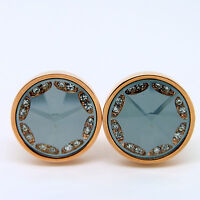 Rose Gold And Grey Cufflinks With Stones -  - ebay.co.uk