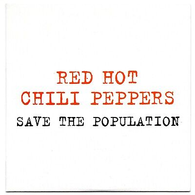 RED HOT CHILI PEPPERS Save the population VERY RARE SPANISH PROMO CD SINGLE