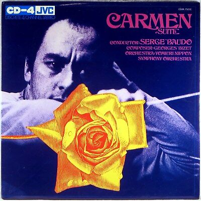 JVC CD-4 QUAD 4-CHANNEL 1971 STEREO Bizet BAUDO Carmen Suite CD4K-7501E NM- for sale  Shipping to India