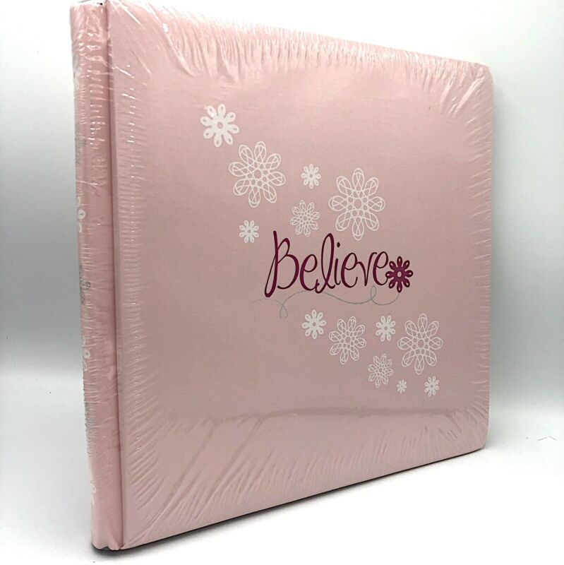 Creative Memories 12 X 12 Pink Scrapbook Album Believe Is Foiled New Sealed