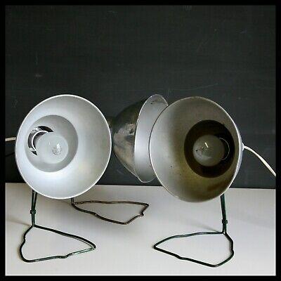 Vintage x 3 Adjustable Desk Lamp Light Working Industrial Original Retro