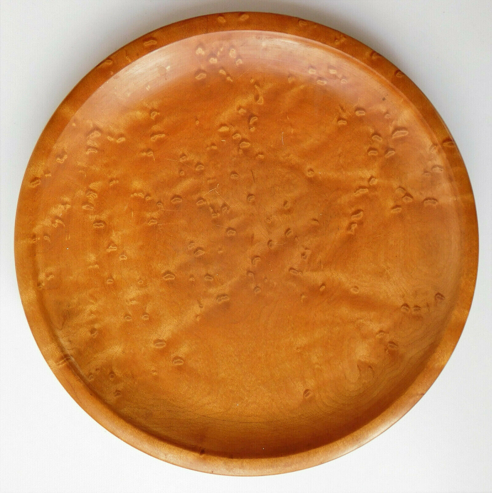 Beautiful wood plate 8.5 inches across decorative wooden ware