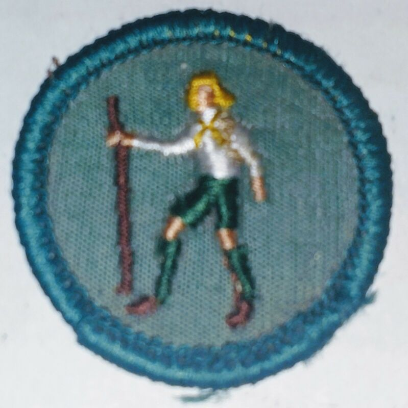 Vintage Girl Scout Foot Traveler Merit Badge Patch