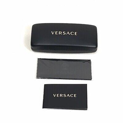 VERSACE Hard Sunglasses Eyeglass Case & Cloth Black (Versace Eyeglass Case)