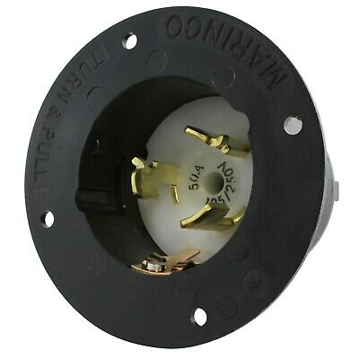 60 Amp 125 250 Volt Impact Corrosion Resistant Nylon 6 Shell Material Flush