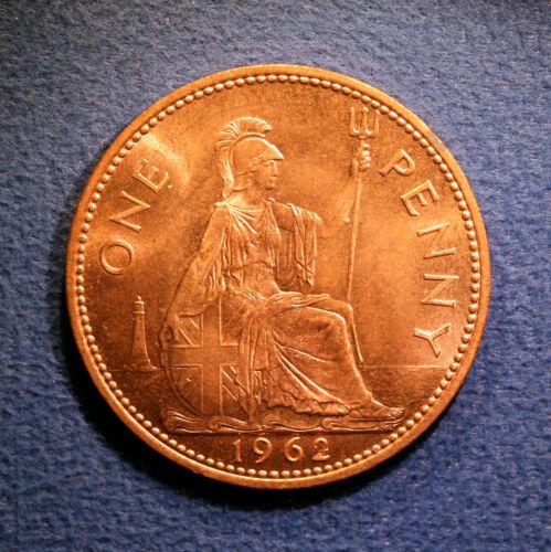 British One Penny - Elizabeth II, 1962, nice Brilliant Uncirculated condition
