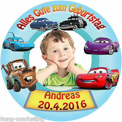 y Pixar Cars Geburtstag Tortenbild Fototorte und Text (19) (Cars Geburtstag)