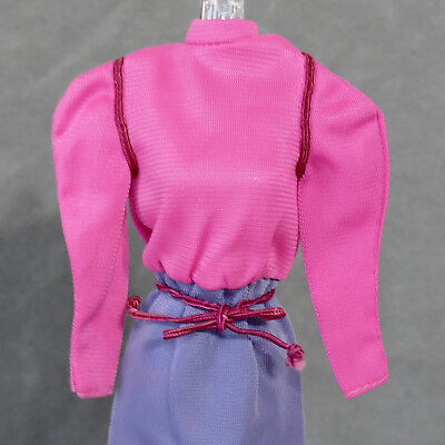 Barbie 1970s Clothes Dress w/ Belt Nylon Hot Pink Purple Tagged USA SELLER