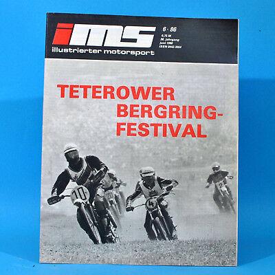 Illustrierter Motorsport IMS 6/1986 Teterow Anklam Zschopau Schleiz Eisenach R
