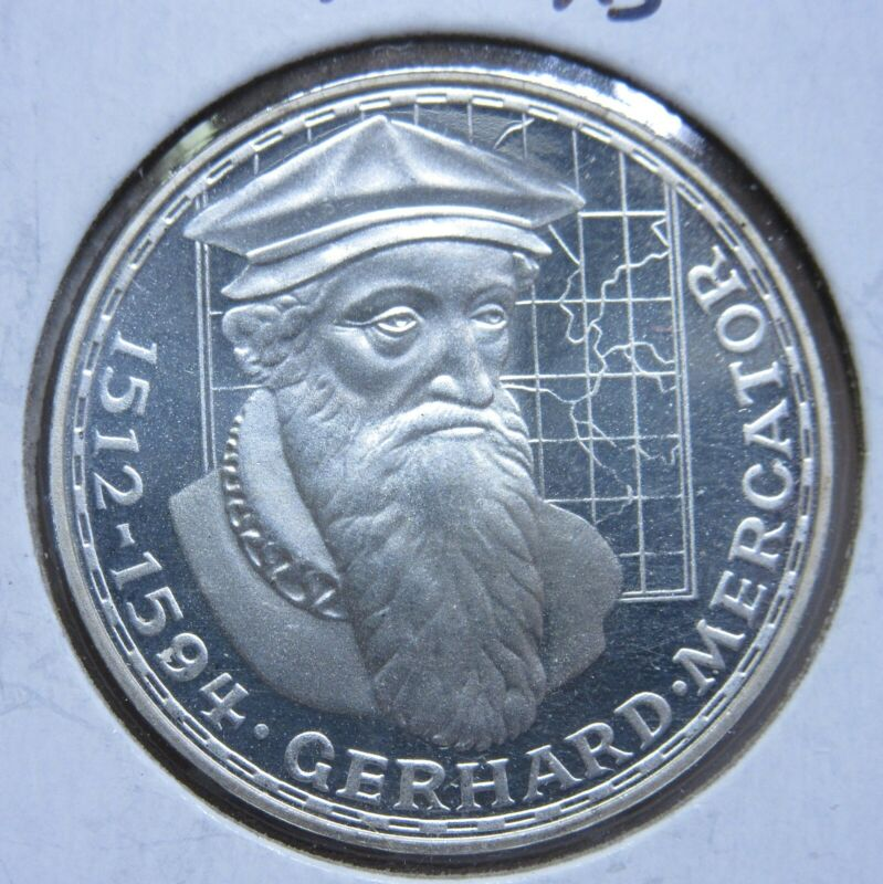 1969F Germany Silver 5 Marks-Proof-Very Low Mintage