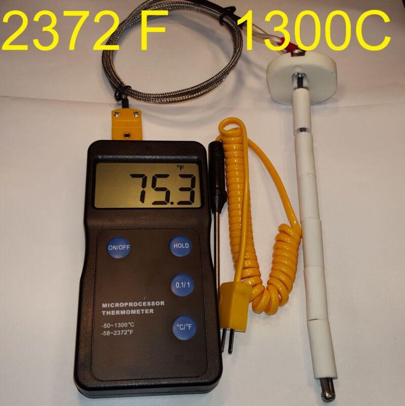 Digital Pyrometer F,C kiln Oven Gauge Thermometer Annealing Thermocouple Sensor
