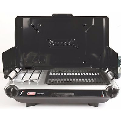 Coleman 2-in-1 Portable Camping Tailgating PerfectFlow Camp Propane Grill Stove