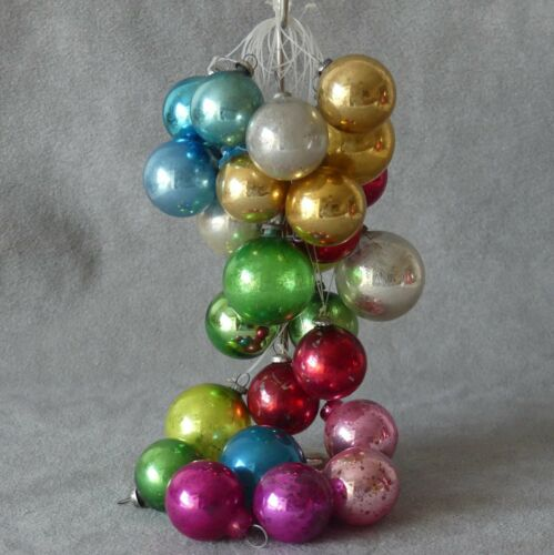 Christmas Ornament Glass SHINY BRITE Ball UNSILVERED WWII Lot o 26 USA SELLER