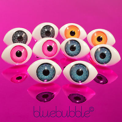 FUNKY EVIL EYE BALL EARRINGS KITSCH PUNK ROCK GOTH EMO SCARY HALLOWEEN DRESS - Funky Halloween Eyes