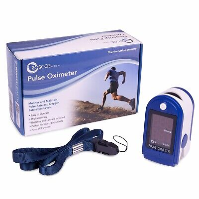 Roscoe Medical Finger Pulse Oximeter Oxygen Saturation Monitor Pediatric Adult
