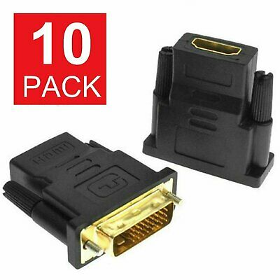 DVI-D Male (24+1 pin) to HDMI Female (19-pin) HDTV Monitor Display Adapter Consumer Electronics
