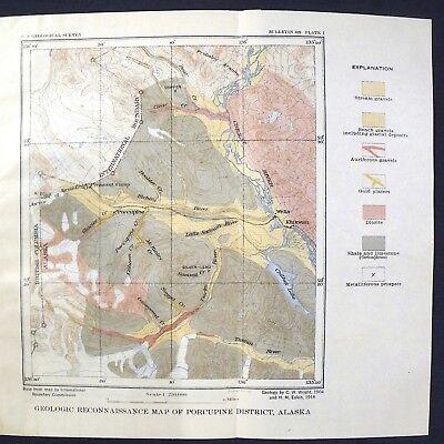 USGS GOLD PLACERS of PORCUPINE AREA, near SKAGWAY, ALASKA 1919 Panning Dredging