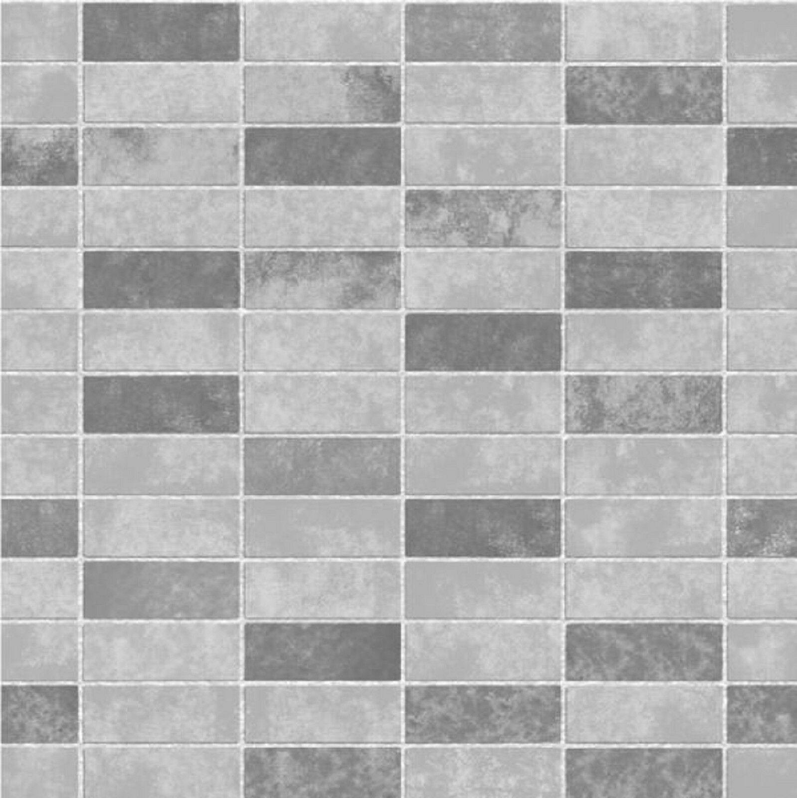 White Brick Wallpaper Kitchen: Fine Decor FD40117 Ceramica Grey Slate Tile Brick Effect
