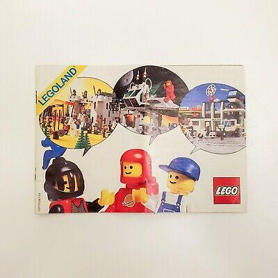 Vtg 1986 Lego Legoland Catalog Town Space and Castle System Building Series Sets