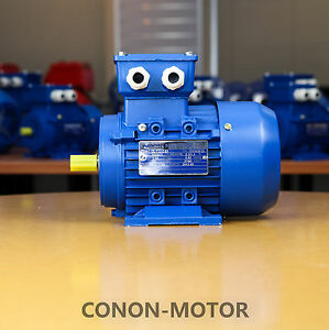 Electric-motor-Three-phase-415v-0-55kw-0-75HP-2800rpm-shaft-14mm