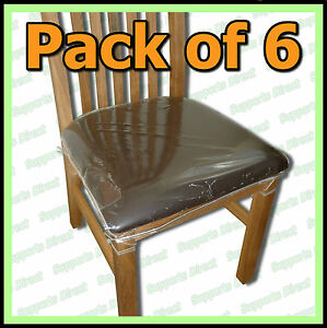 Strong dining chair protectors clear plastic cushion seat covers protection 3pm3mcx6 home - Plastic covers for dining room chairs ...