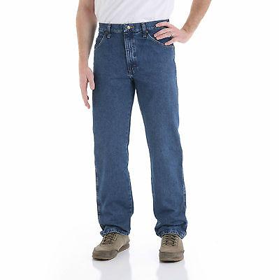 (Wrangler Men's Regular Fit Jeans 100% Genuine Heavy cotton - Dark Stone)