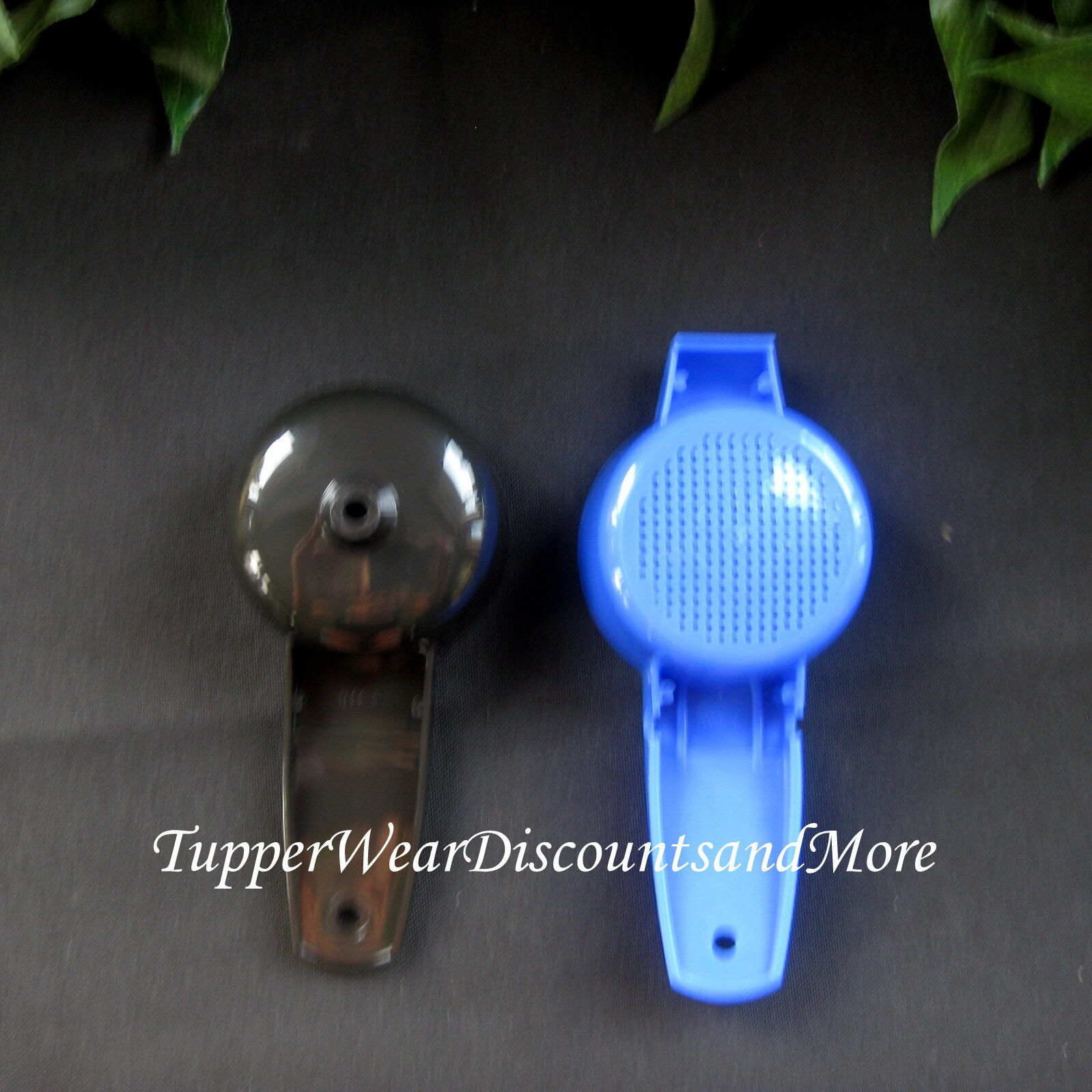 Tupperware Mini Blue Sifter & Black Funnel Set Kitchen Gadget Free Ship