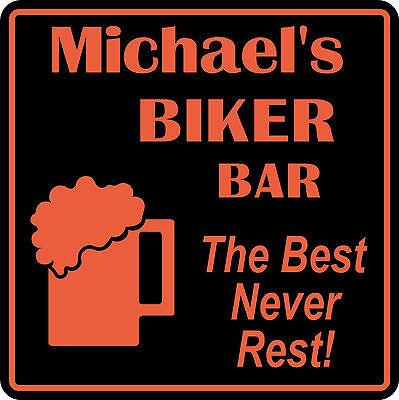 Personalized Custom Name Motorcycle Biker Bike Best Never Rest Bar Gift Sign  4