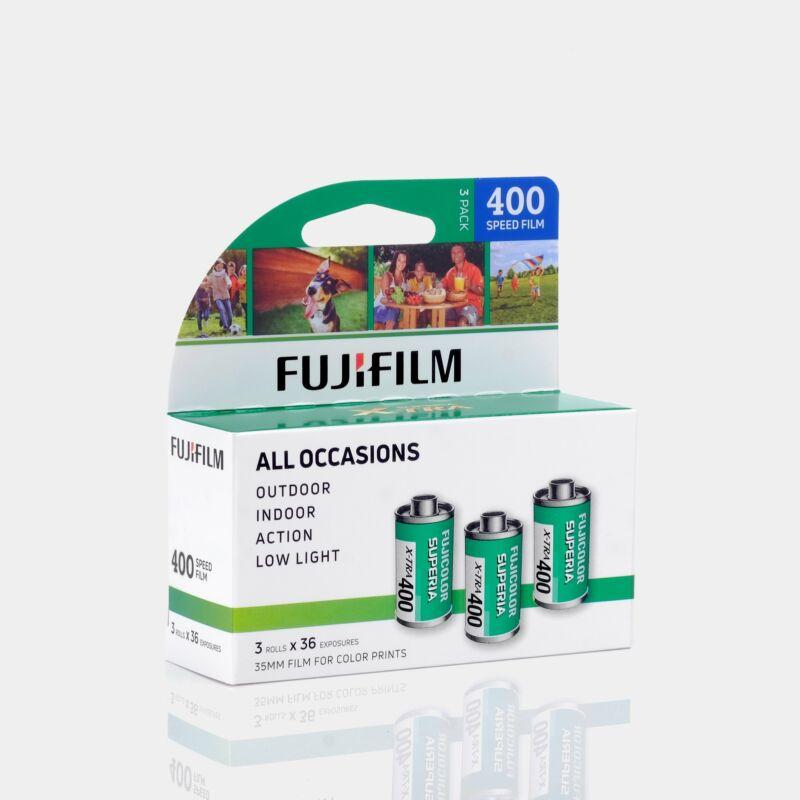 Fujifilm 400 Color 35mm Film (36 Exposures) - 3 Rolls