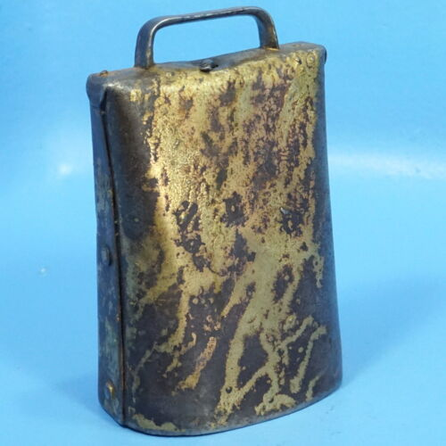 "7"" Antique Iron COW BELL Farm Animal Chalet Decor"