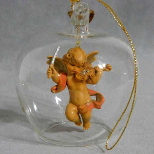 Christmas Ornament Glass UNSILVERED Ball ANGEL MARECK GEVER POLAND USA SELLER