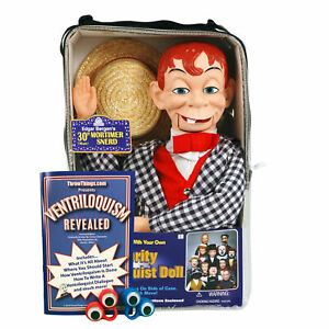Bonus Bundle! Mortimer Snerd Ventriloquist Dummy Doll - New! Goofy!