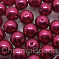 10mm Vetro Perle Finte Vino 40 Rotondo Branelli Della Perla Creazione Gioielli, -  - ebay.it