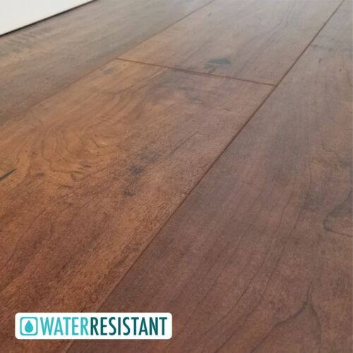High-End Handscraped Maple Laminate Flooring by the Case - Glenview 12mm
