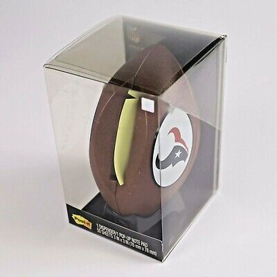 Post-it Pop-up Note Dispenser Note Pad Houston Texans Football Official Nfl