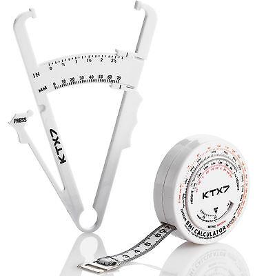 Fat Caliper (KTX7® Körperfettzange Fettmesszange Fat Caliper Körperfettmessgerät Fettzange)