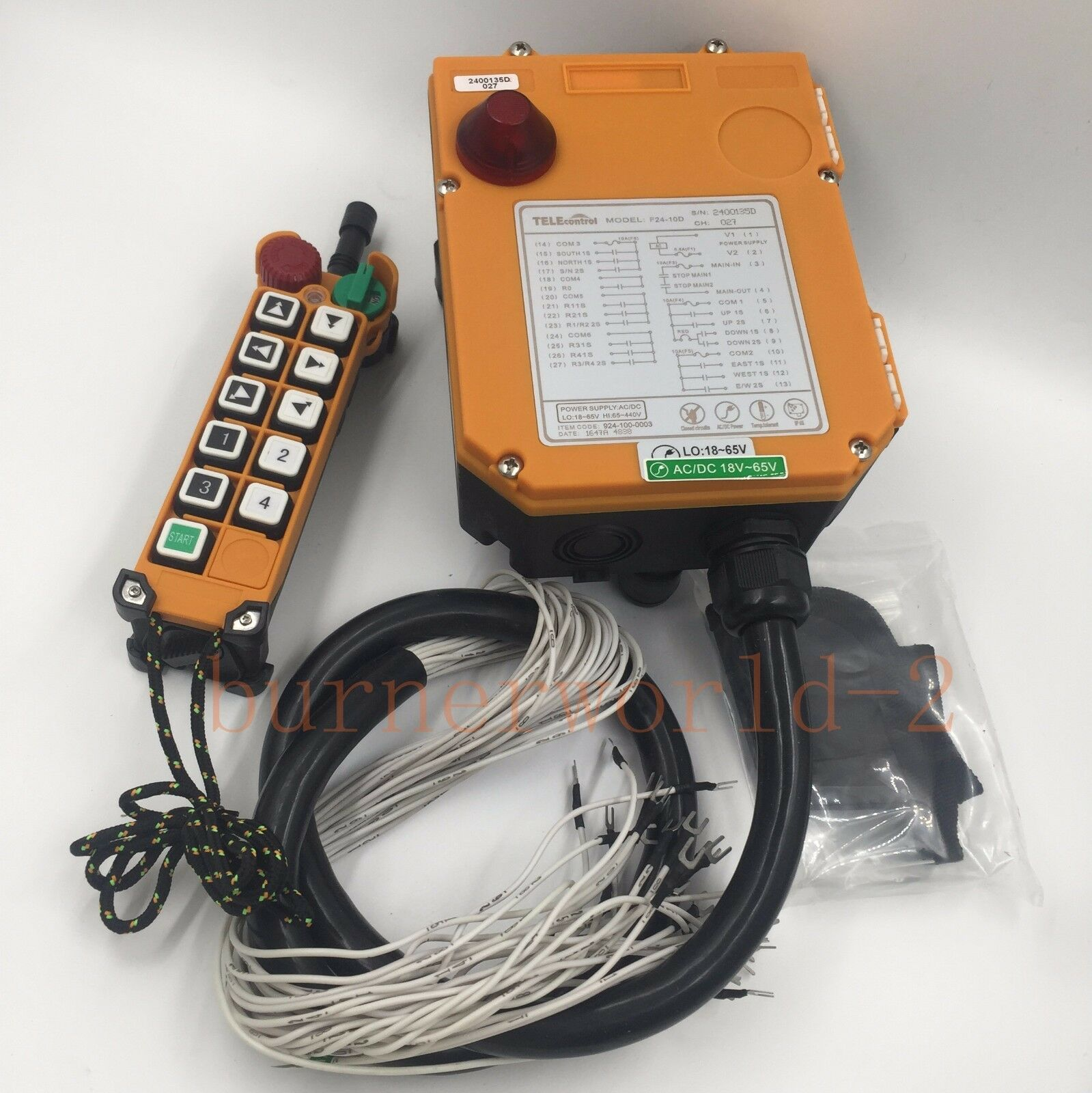 F24-10D 10 channels 2 Speed Industrial Hoist Remote Control/Radio