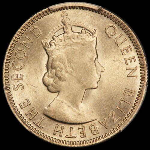 1954 Seychelles 25 Cents Coin - PCGS MS 65 - KM# 11 - TOP POP