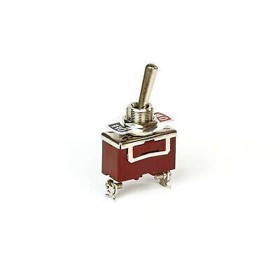 Schalter Kippschalter Einbau ON/OFF 250 V 10 A Metall 1 polig Schraubkontakte
