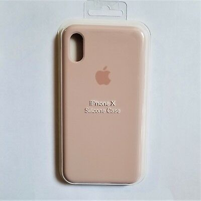 Authentic Apple iPhone X Silicone Case – Color Pink Sand