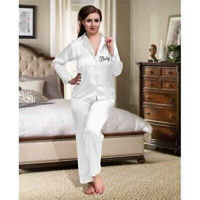 Personalised Long Pyjamas Wedding Honeymoon Gift Bridal PJs Pyjama Set + Childs