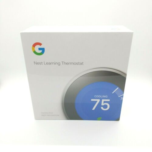 Nest 3rd Generation Programmable Thermostat T3008US Stainless Steel New Sealed