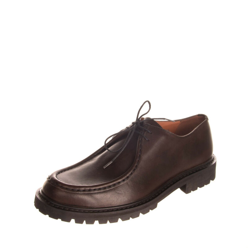 RRP €570 DRIES VAN NOTEN Leather Derby Shoes EU44.5 UK10.5 US11.5 Made in Italy