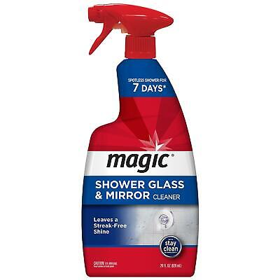 Magic American Glass Cleaner Magic Shower Door Cleaner-28 Ounce-Removes Soap