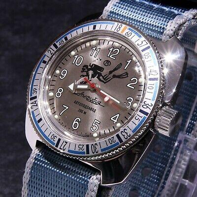 Vostok Amphibia Custom 'Scuba Dude' Auto Dive Watch, New, Boxed, UK seller