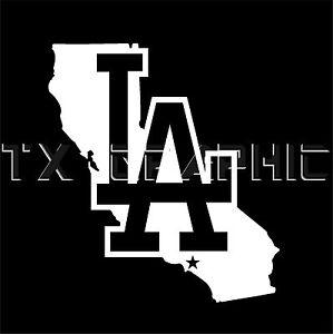 La Dodgers Los Angeles California Vinyl Sticker Decal