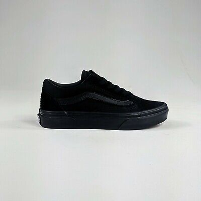 Vans Kids Old Skool Trainers Pumps Black UK Kids size 10,11,12,13,1,2,3.
